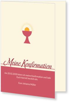 Einladungskarten Konfirmation | Versandfertig in 24 Stunden