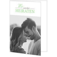 Romantische Schrift in Grün