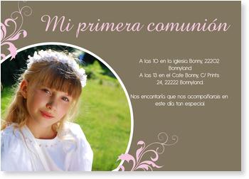 Invitaciones de comunión, Divertida invitación