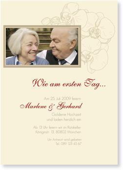 Einladungskarten Goldene Hochzeit | Lieferzeit 1 2 Werktage, Einladungs