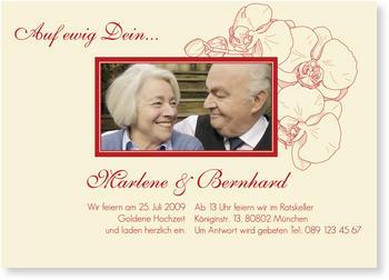 Schön Einladungskarten Zum Hochzeitstag, Orchidee In Rot