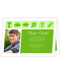 Christliche Symbole in Grün