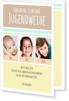 einladungskarten jugendweihe | versandfertig in 24 stunden, Einladung