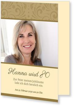 Einladungskarten 80. Geburtstag, Elegante Zierde
