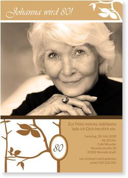Einladungskarten 80. Geburtstag, Edel Zum 80. Geburtstag