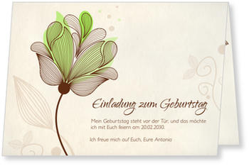 Einladungskarten 80. Geburtstag, Blütentraum