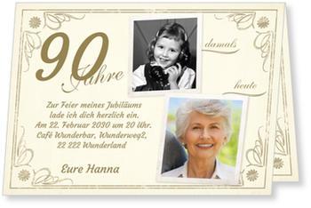 Einladungskarten 90. Geburtstag | Lieferzeit 1-2 Werktage