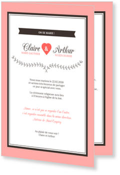 Invitations Mariage Personnalisées, Cupido