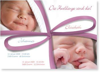 Babykarten Zwillinge Gratis Musterkarten Und Versand