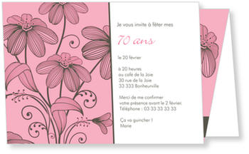 Invitation Anniversaire 70 Ans