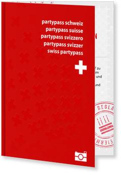 Einladungskarten 90. Geburtstag, Schweizer Partypass