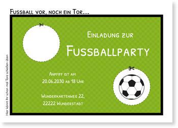 Fußballparty Einladungskarten Online Selbst Gestalten, Fußballtor