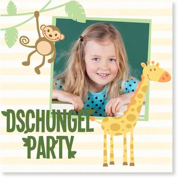 Einladungskarten Kindergeburtstag, Wilde Dschungelparty