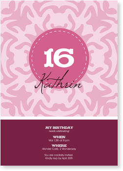 Birthday Invitations for Teenagers, Sweet Berry