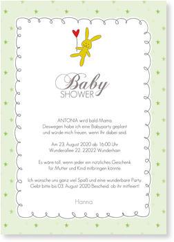 einladung zur babyparty - designideen, Einladung