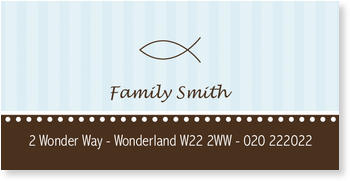 Address Labels to personalise your post, Fish Label in Blue