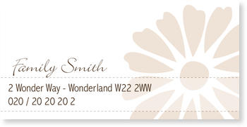 Address Labels to personalise your post, Gerbera Label