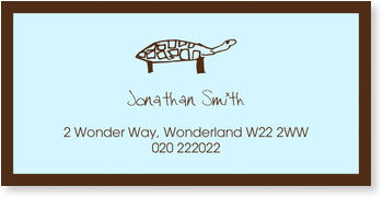 Address Labels to personalise your post, Tortoise Label