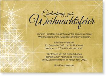 Einladung Weihnachtsfeier Firma.Lichterbaum