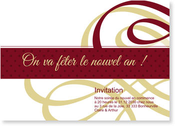 Invitations Nouvel An à personnaliser , Symphonie