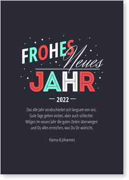 Einladungskarten Party, Typografie
