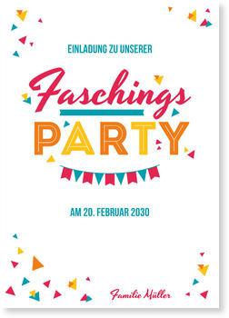 Einladungskarten Karneval Und Fasching, Fasching   Bunte Schnipsel