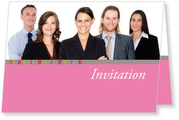 Formal and personal Business Invitations, Pink Invitation