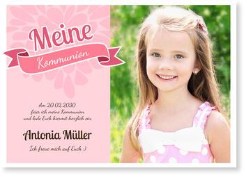 einladungskarten kommunion | lieferzeit 1-2 werktage, Einladung