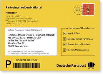 Einladungskarten 30. Geburtstag, Partypost