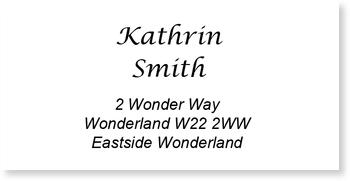Address Labels to personalise your post, Address Label Blank