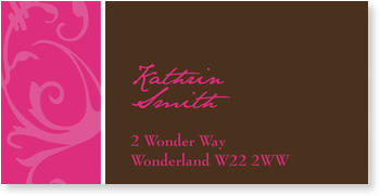 Address Labels to personalise your post, Address Label Ornament Pink