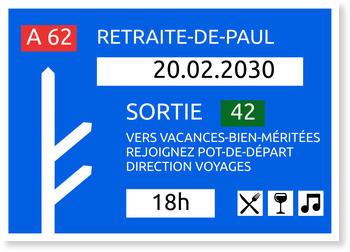Carte Départ En Retraite Bonnyprints Fr