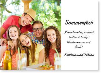 Schön Einladungskarten Sommerfest, Sommerspaß