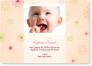 Baby Photo Cards – a fab presentation of your little one,  Flowerborder