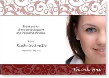 Personalised Thank You Cards, thank you for, Thank You -  Ornaments