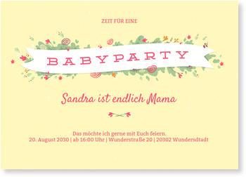 einladungskarten babyparty | schneller & kostenloser versand, Einladungsentwurf