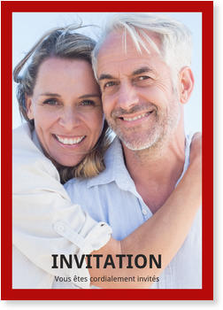 Cartes vierges 100% personnalisables , Vertical - une photo en rouge