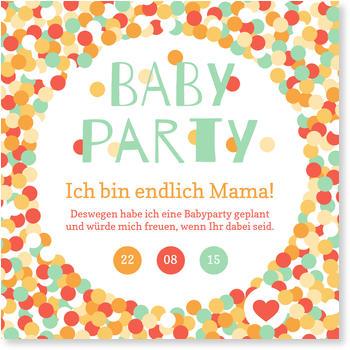 Einladungskarten Babyparty, Pünktchen