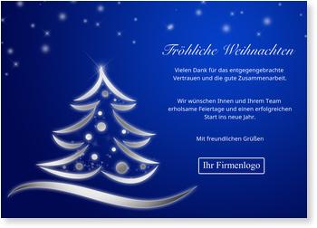 blaue weihnachtszeit weihnachtskarten gesch ftlich. Black Bedroom Furniture Sets. Home Design Ideas