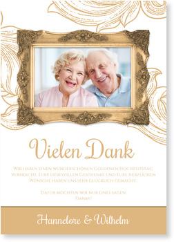Dankeskarten Goldenen Hochzeit, Rahmen