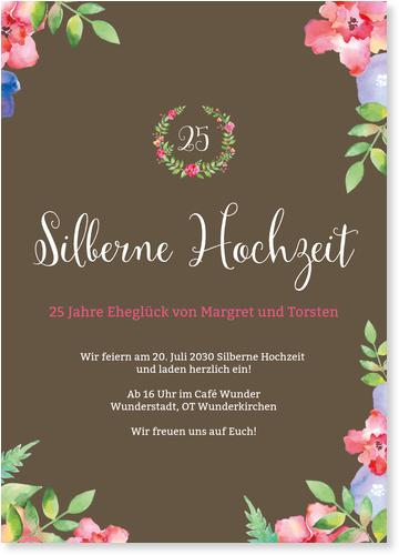 Einladungskarten Silberhochzeit / Einladungskarten Silberhochzeit | Lieferzeit 1-2 Werktage