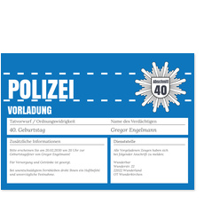Polizeiliche Vorladung