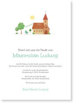 Einladungskarten Taufe, Kirche