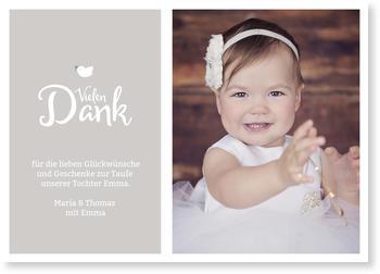 Dankeskarten Taufe Gratis Musterkarten Und Versand