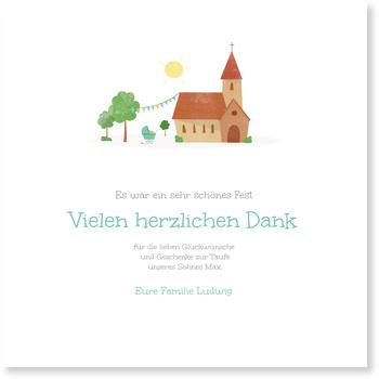 Kirche Dankeskarten Taufe