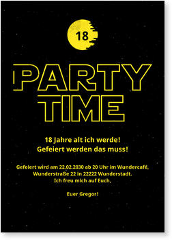 Birthday Invitations for Teenagers, Sterne