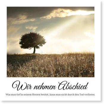 einladung trauerfeier | gratis musterkarten und versand, Einladung