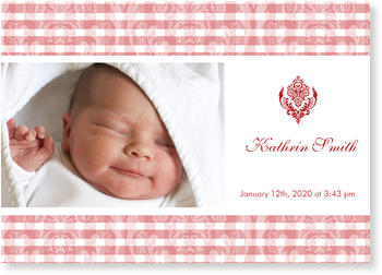 Baby Photo Cards – a fab presentation of your little one, Royal Girl
