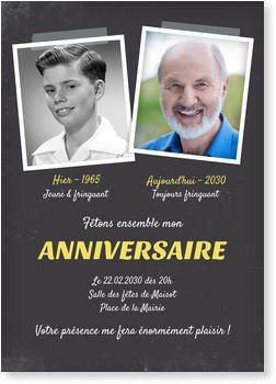 Carte Invitation Anniversaire 70 Ans Bonnyprints Fr