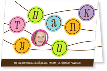 Personalised Thank You Cards, thank you for, Colorful Thanks